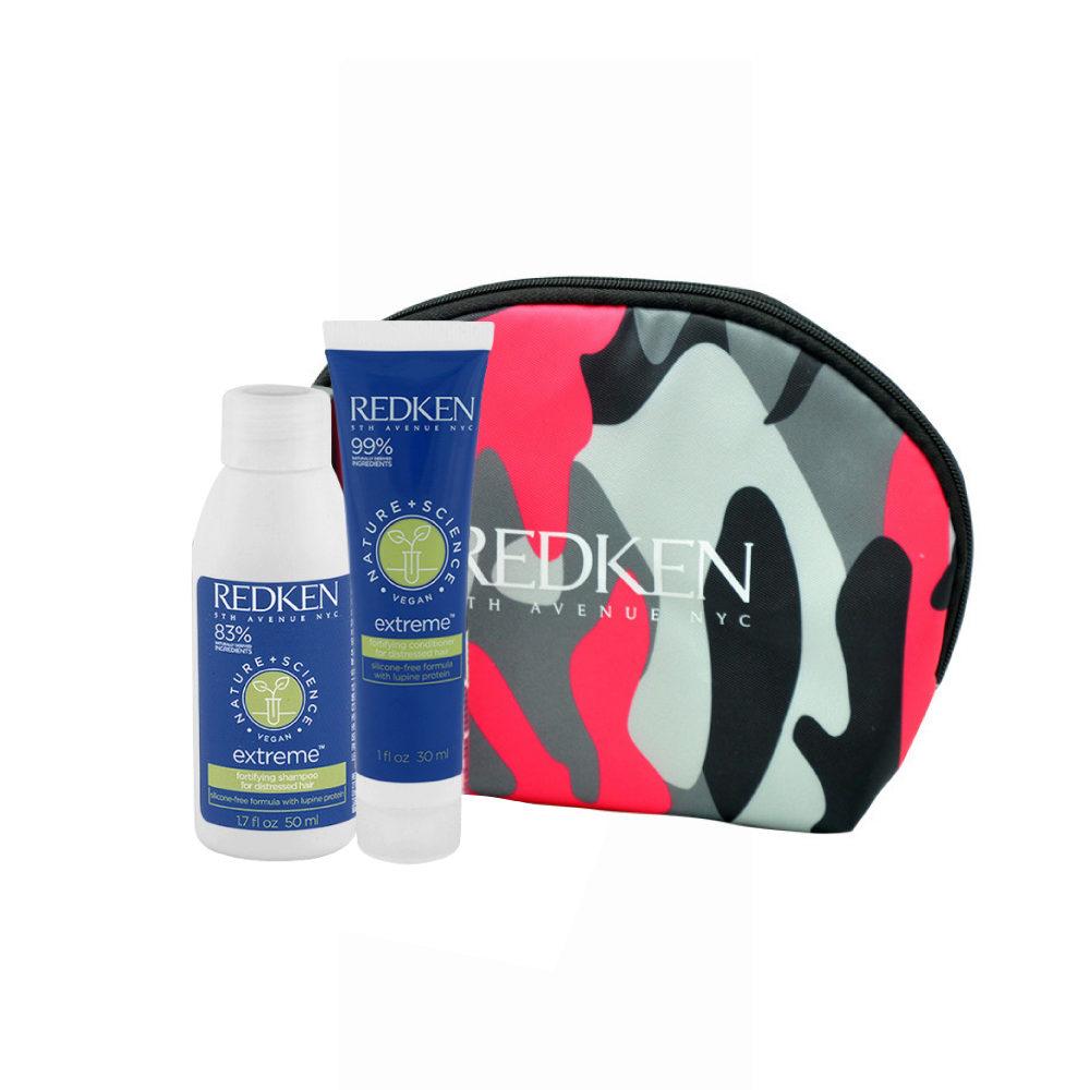 Redken Nature + Science Extreme Shampoo 50ml Conditioner 30ml omaggio pochette