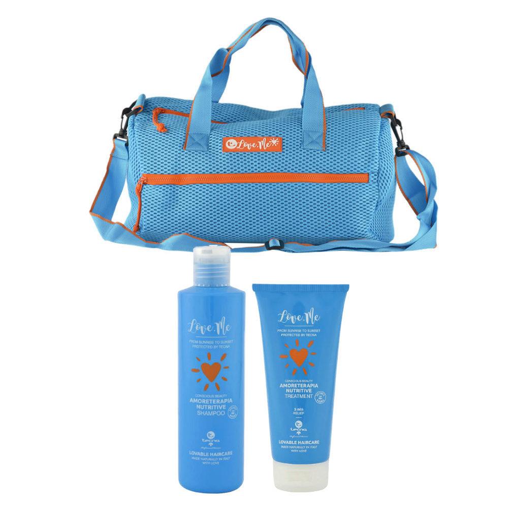 Tecna Sun Amoreterapia Shampoo 250ml Treatment 200ml omaggio borsa mare