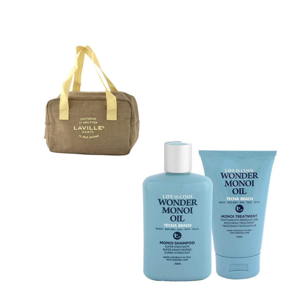 Tecna Beach Wonder Monoi kit Shampoo 250ml Treatment 150ml omaggio borsa termica