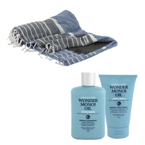 Tecna Beach Wonder Monoi kit Shampoo 250ml Treatment 150ml + telo mare Baldinini omaggio