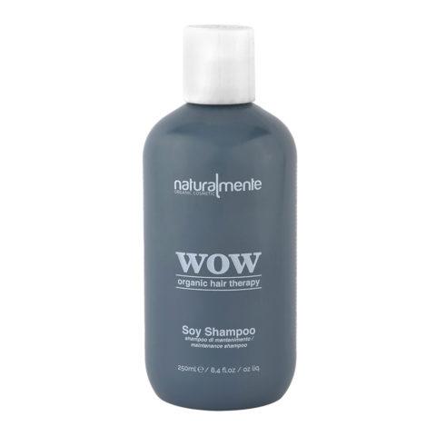 Naturalmente Wow organic hair therapy Soy Shampoo 250ml - shampoo anticrespo alla cheratina vegetale