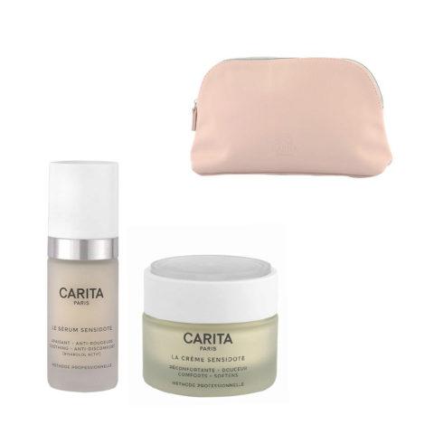 Carita Skincare Ideal douceur Sensidote Kit Sérum 30ml Crème 50ml - siero e crema viso pelli sensibili pochette omaggio