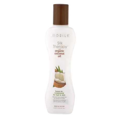 Biosilk Silk Therapy Coconut Oil Leave In Treatment Hair Skin 167ml - siero senza risciacquo corpo e capelli