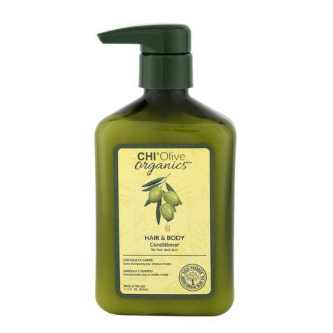 CHI Olive Organics Hair & Body Conditioner 340ml - balsamo per corpo e capelli a base di olio di oliva