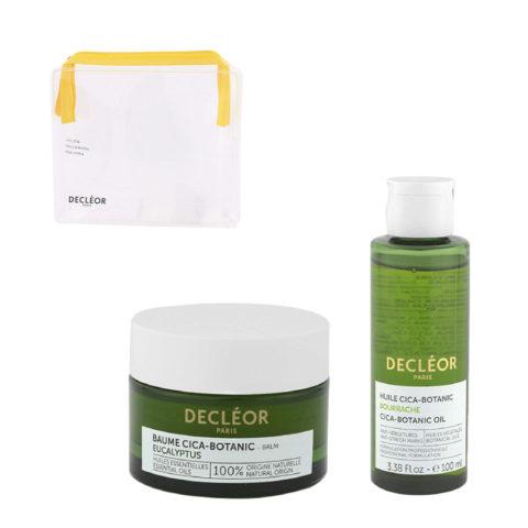 Decléor Body Care Cica-Botanic Kit Baume Eucalyptus 50ml Huile 100ml - omaggio pochette