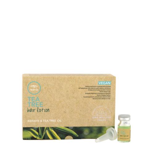 Paul Mitchell Tea Tea Hair Lotion 12x6ml - fiale rinforzanti anticaduta per cute con forfora grassa