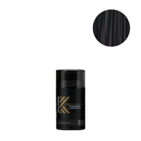 Tricomix Fibre Black 12gr - Fibre Di Cheratina Volumizzanti Per Capelli Con Principi Anticaduta Nero