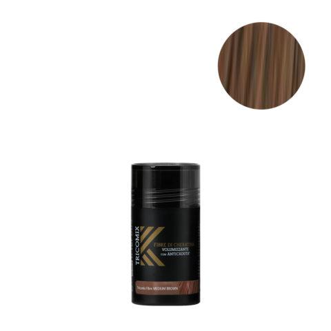 Tricomix Fibre Medium Brown 12gr - Fibre Di Cheratina Volumizzanti Per Capelli Con Principi Anticaduta Castano Medio