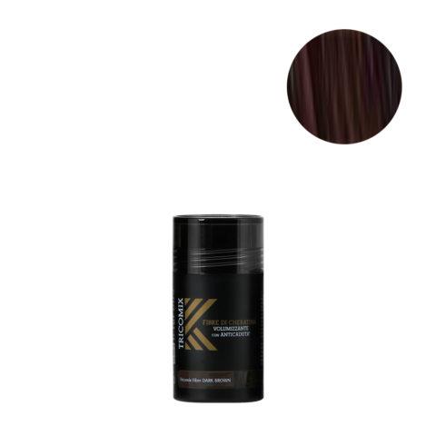 Tricomix Fibre Dark Brown 12gr - Fibre Di Cheratina Volumizzanti Per Capelli Con Principi Anticaduta Castano Scuro