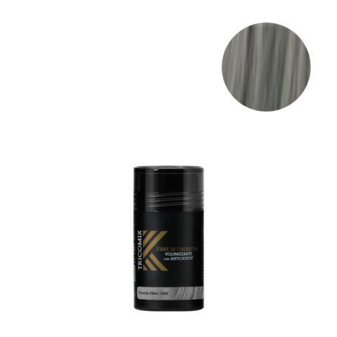 Tricomix Fibre Gray 12gr - Fibre Di Cheratina Volumizzanti Per Capelli Con Principi Anticaduta Grigio Medio