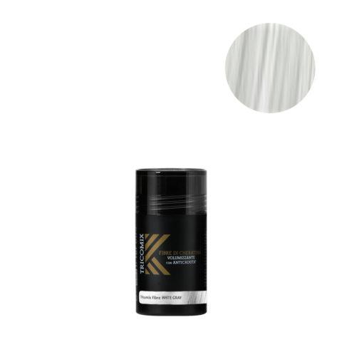 Tricomix Fibre White Gray 12gr - Fibre Di Cheratina Volumizzanti Per Capelli Con Anticaduta Grigio Chiaro / Bianco