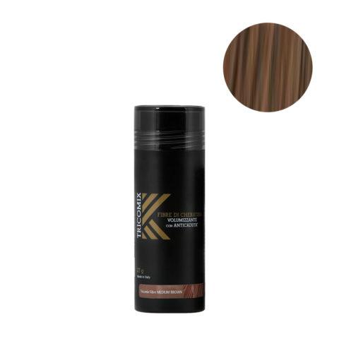 Tricomix Fibre Medium Brown 27gr - Fibre Di Cheratina Volumizzanti Per Capelli Con Principi Anticaduta Castano Medio