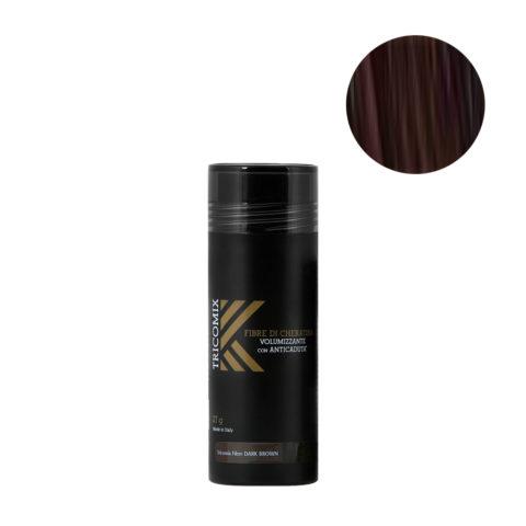 Tricomix Fibre Dark Brown 27gr - Fibre Di Cheratina Volumizzanti Per Capelli Con Principi Anticaduta Castano Scuro