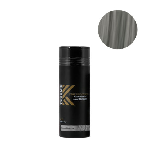 Tricomix Fibre Gray 27gr - Fibre Di Cheratina Volumizzanti Per Capelli Con Principi Anticaduta Grigio Medio