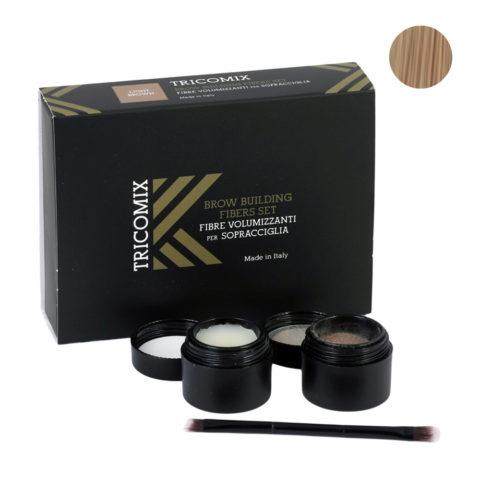 Tricomix Brow Light Brown 1,2g + 2g - Fibre Di Cheratina Volumizzanti Per Sopracciglia Castano Chiaro
