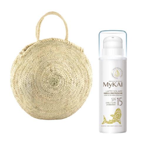 Mykai Latte Solare Media Protezione SPF15, 150ml borsa in omaggio