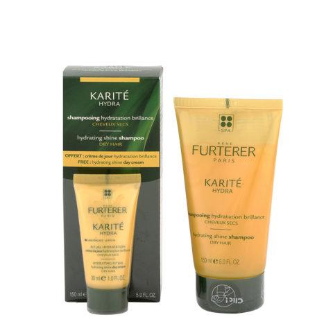 René Furterer Karité Hydrating Shine Shampoo 150ml - Shampoo idratante capelli secchi con Crema omaggio