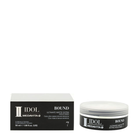 Medavita Idol Styling Man Bound Matte Extra Hold Wax 50ml - cera opaca tenuta forte