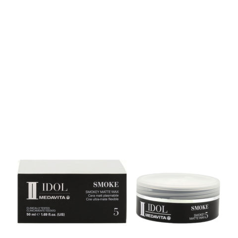 Medavita Idol Styling Man Smoke Matte Wax 50ml - cera opaca modellante