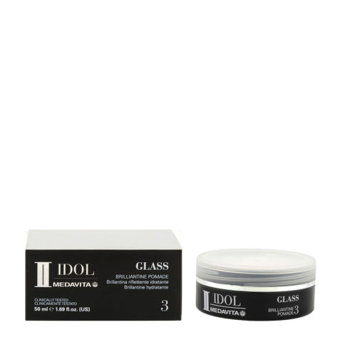 Medavita Idol Styling Man Glass Brillantine Pomade 50ml - cera lucida brillantina