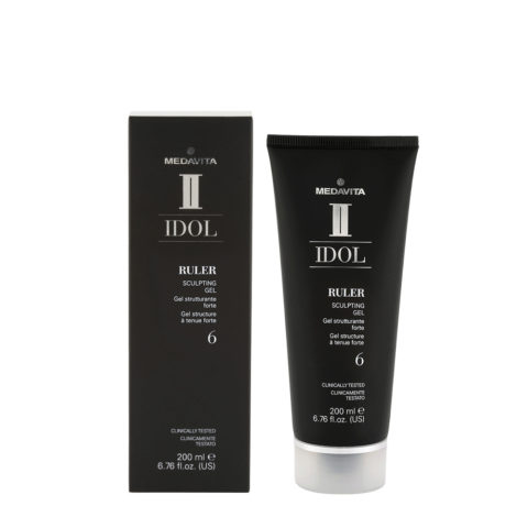 Medavita Idol Styling Man Ruler Sculpting Gel 200ml - gel tenuta forte