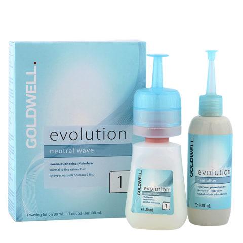 Goldwell Evolution Neutral Wave 1 - Kit Permanente Fai Da Te Capelli Naturali