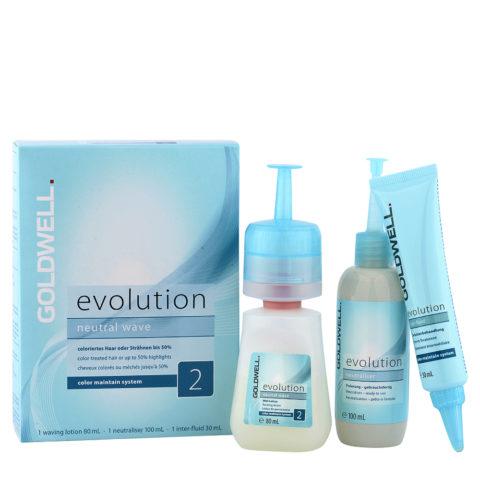 Goldwell Evolution Neutral Wave 2 - Kit Permanente Fai Da Te Capelli Colorati