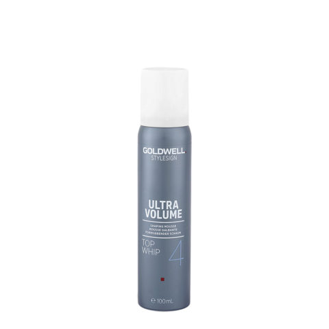 Goldwell Stylesign Ultra Volume Top Whip 4, 100ml - Mousse Forte Volumizzante Ispessente