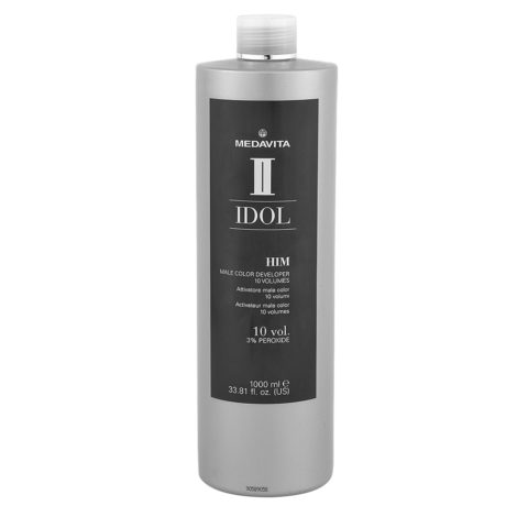 Medavita Idol Man Male Color Peroxide 10vol. 1000ml - ossigeno lozione ossidante