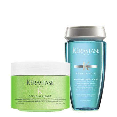 Kerastase Fusio Scrub Trattamento cute sensibile irritata - Scrub E Shampoo Lenitivo