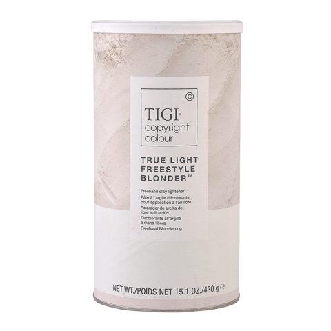 Tigi Decolorante Copyright Colour True Light Freestyle Blonder 430gr - decolorante delicato con arginina