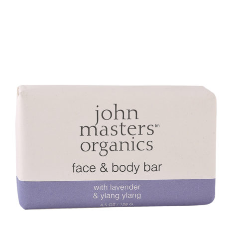 John Masters Organics Lavender, Rose Geranium & Ylang Ylang Soap 128gr - sapone mani e corpo