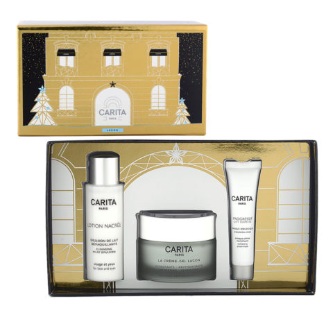 Carita Skincare Lagon Kit La Creme Lagon 50ml + Lotion Nacree 50ml + Masque Biologique 15ml -