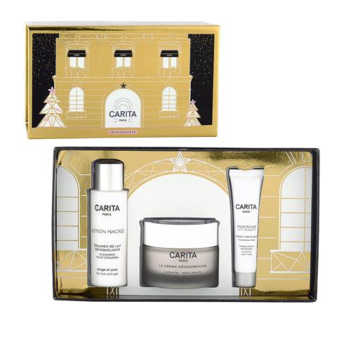 Carita Neomorphose Kit La Crème 50ml + Lotion Nacrée 50ml + Masque Biologique 15ml - Per Pelli Mature