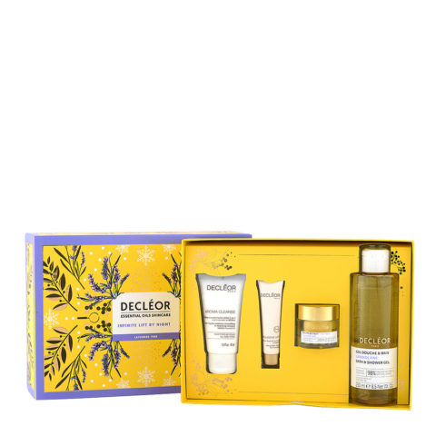 Decléor Essential Oils Skincare Infinite Lift By Night Lavender Fine - Kit 4 Prodotti routine quotidiana viso