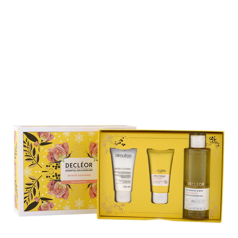 Decléor Essential Oils Skincare Infinite Soothing Rose Damascena - Kit 3 Prodotti viso pelle sensibile