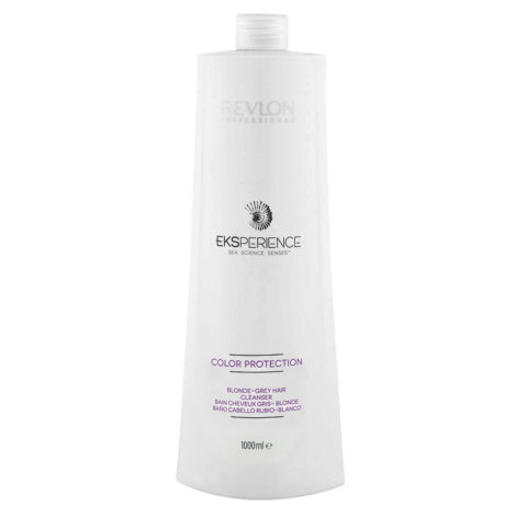 Eksperience Color Protection Blonde Grey Shampoo 1000ml - per capelli biondi, grigi o bianchi