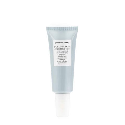 Comfort Zone Sublime Skin Color Perfect SPF50, 40ml - crema colorata uniformante incarnato