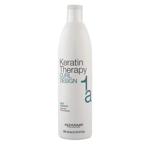 Alfaparf Keratin Therapy Curl Design 1a Move Designer 500ml - Lozione Ondulante