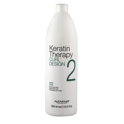 Alfaparf Keratin Therapy Curl Design 2 Move Fixer 1000ml - Fluido Fissa Onde