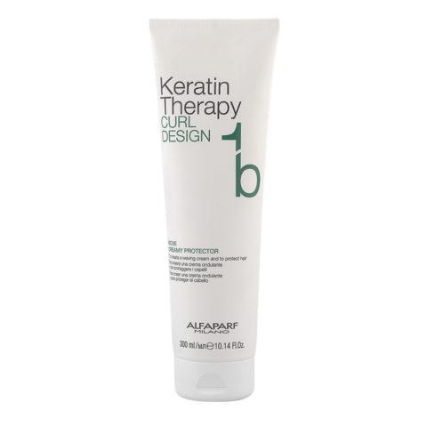 Alfaparf Keratin Therapy Curl Design 1b Move Creamy Protector 300ml - Crema Ondulante