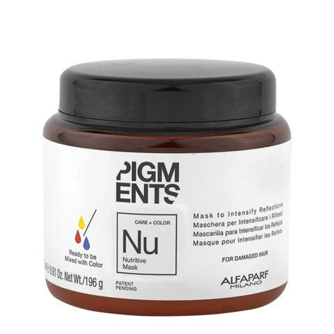Alfaparf Pigments Nu Nutritive Mask 200ml - Maschera Capelli Secchi