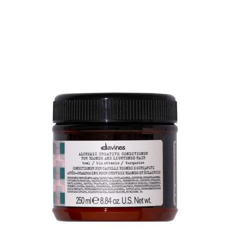 Davines Alchemic Creative Conditioner Teal 250ml - balsamo colorato blu ottanio