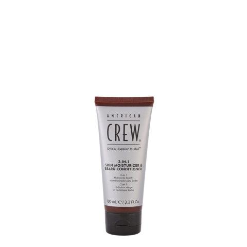 American Crew 2 in 1 Skin Moisturizer Beard Conditioner 100ml - balsamo idratante per pelle e barba