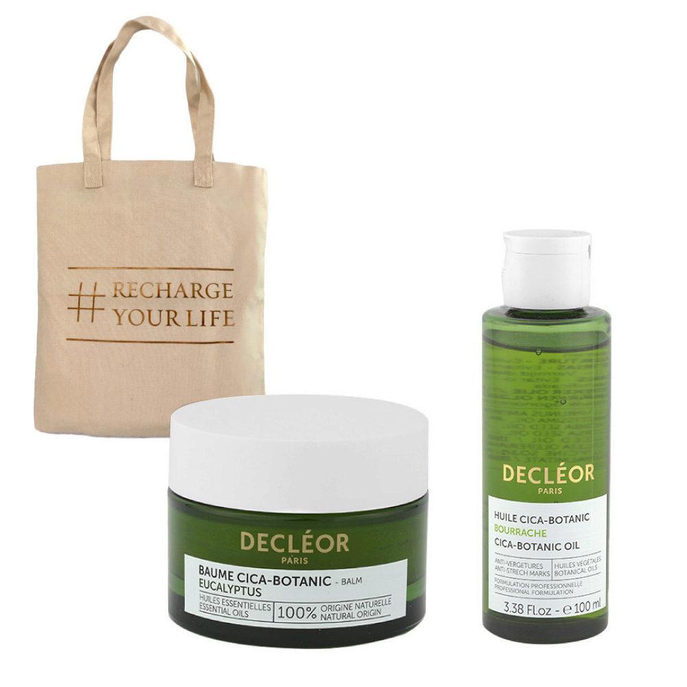Decléor Body Care Cica-Botanic Kit Baume Eucalyptus 50ml Huile 100ml - omaggio borsa