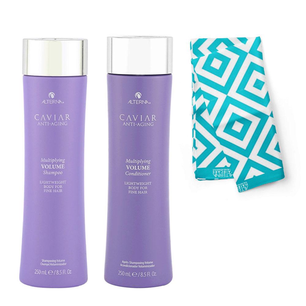 Alterna Caviar Multiplying Volume Kit Shampoo 250ml Balsamo 250ml - Pareo omaggio