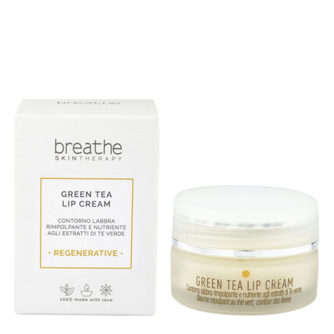 Naturalmente Breathe Regenerative Green Tea Lip Cream 15ml - balsamo labbra antirughe