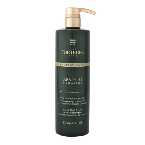 René Furterer Absolue Keratine Renewal Shampoo 600ml - shampoo ristrutturante capelli danneggiati