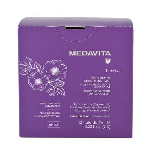 Medavita Luxviva Color Fixative Structuring Filler 12x7ml - fiale ristrutturanti capelli colorati