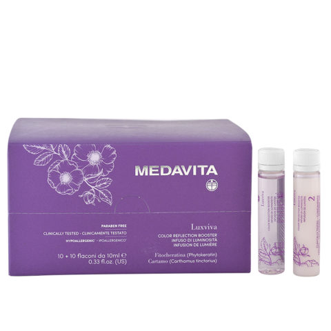 Medavita Luxviva Color Reflection Booster 10x10ml - fiale illuminanti per capelli opachi